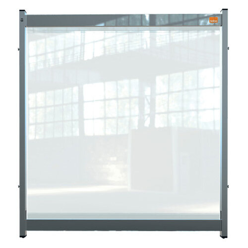 Nobo Premium Plus Clear PVC Modular Desk Divider Screen System 750x820mm