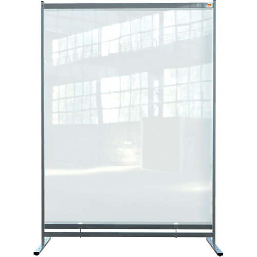Nobo Premium Plus Clear PVC Free Standing Protective Full Length Room Divider Screen 1480x2060mm