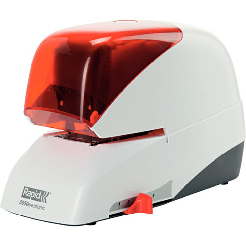 Rapid Supreme Electric Stapler R5050e Silver &Orange