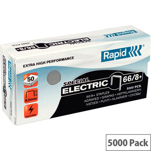 Rapid SuperStrong Staples 66/8+ Electric 5M G