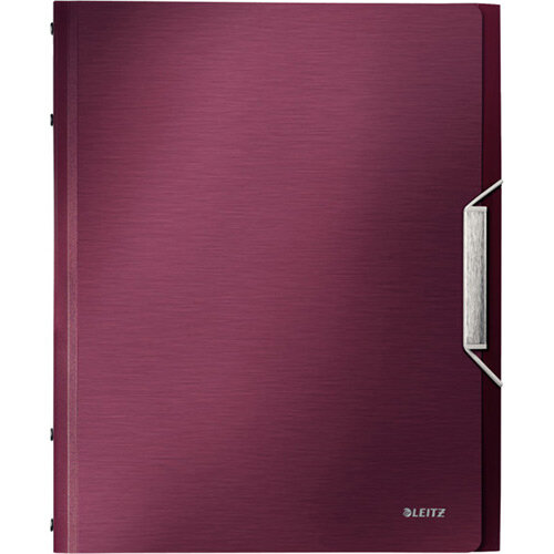 Leitz Style Divider Book 12 Tabs Tabbed Folder Garnet Red