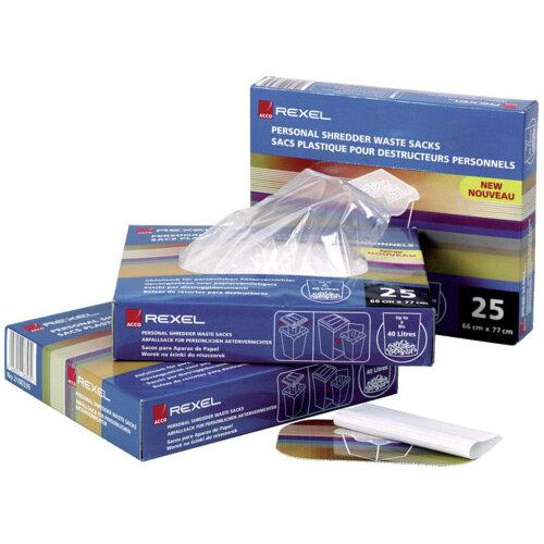 Rexel AS2000 Heavy Duty Plastic Shredder Waste Bags 225L Pack of 100