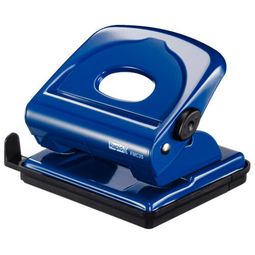 Rapid Desktop Metal Hole Punch FMC25 25 Sheets Blue