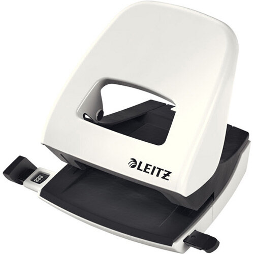 Leitz New NeXXt WOW Metal Office Hole Punch Blister Pk 3mm Pearl White