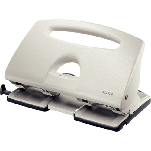 Leitz 4-Hole Punch 4mm Grey