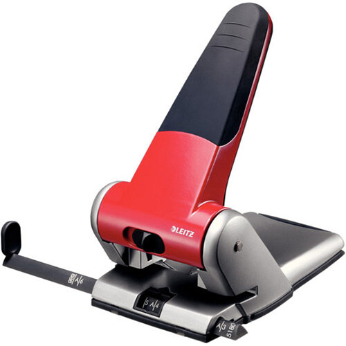 Leitz Heavy Duty Hole Punch 6.5mm Red