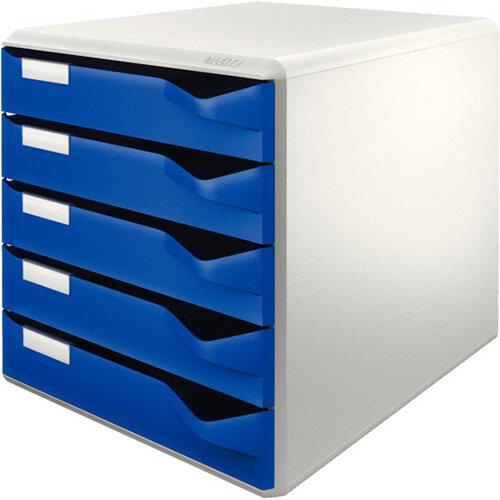 Leitz Post Set 5 Drawers A4 Blue