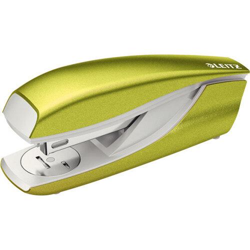 Leitz New NeXXt WOW Metal Office Stapler Blister Pk 3mm Metallic Green