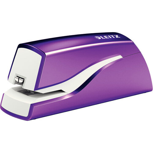 Leitz NeXXt Series WOW Electric Stapler Battery-Powered Purple