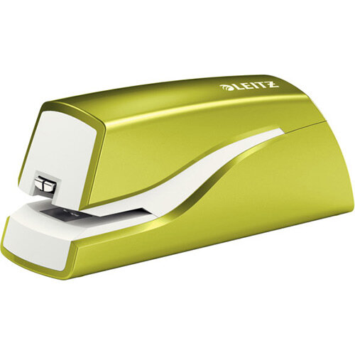 Leitz NeXXt Series WOW Electric Stapler Battery-Powered Metallic Green