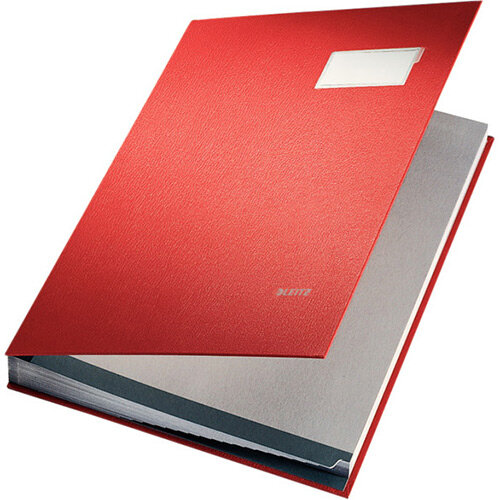 Leitz Signature Book PP Coated With 20 Rigid Card Dividers Red