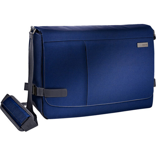 Leitz Complete 15.6in Laptop Messenger Bag Smart Traveller Titan Blue