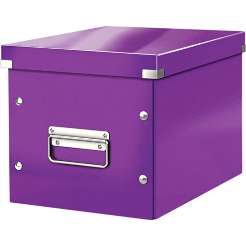 Leitz Box Click &Store Cube Medium Storage Box Purple