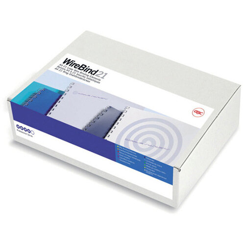 GBC MultiBind Binding Wires A4 21L 14mm White Pack of 100