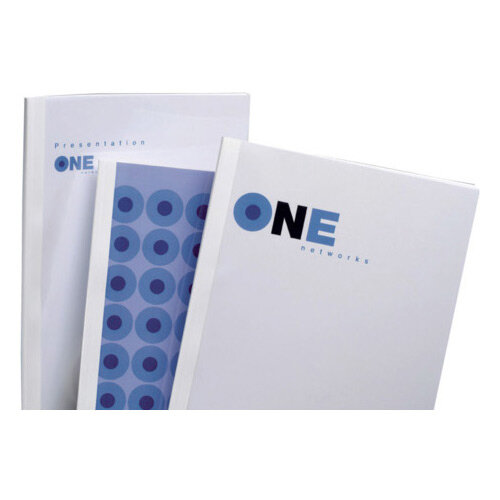GBC Standard Thermal Binding Covers A5 3mm White Pack of 100