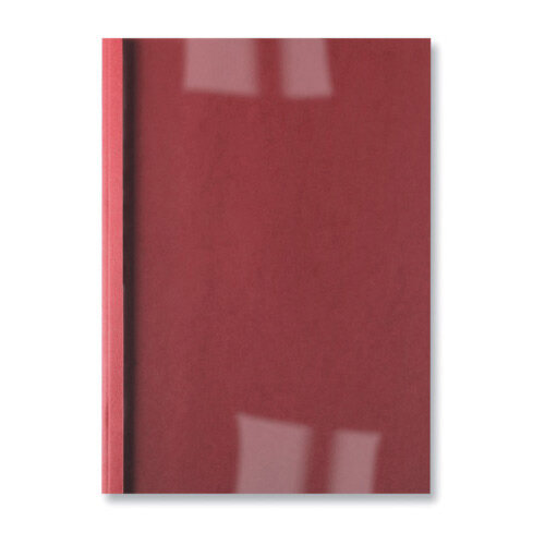 GBC LeatherGrain Thermal Binding Covers 4mm Red Pack of 100