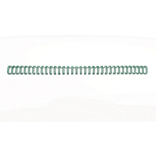 GBC WireBind Binding Wires 2:1 Wire 19mm A4 Green Pack of 200
