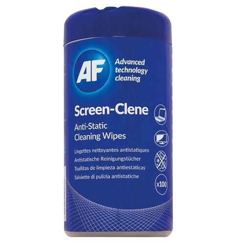 AF Screen-Clene Tub Ref ASCR100T [100 Wipes]