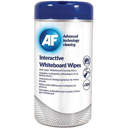 AF Interactive Whiteboard Wipes Pk 100 AWBW100T