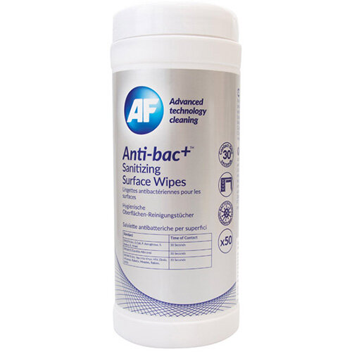 Anti-Bac Sanitising Surface Wipes Pack of 50 ABSCW50T