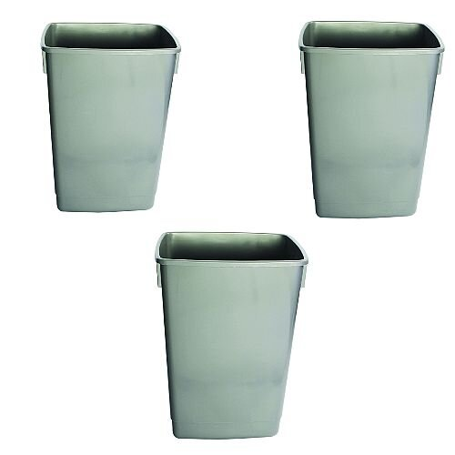 Addis Recycling 3x 60L Bins Kit Bases Metallic Without Lids (Pack 3)
