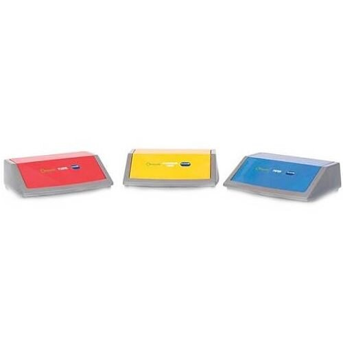 Addis Red/Yellow/Blue Recycling Bin Kit Lids Metallic (Pack3) 505575
