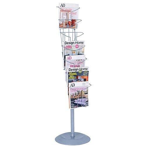 Alba Floor-Standing 7-Pocket Literature/Magazine Display