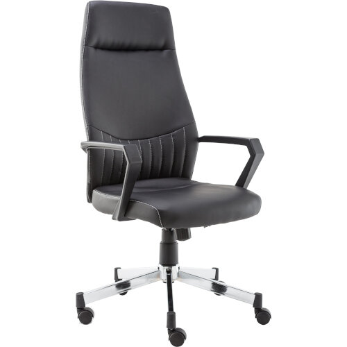 Alphason Office Chair Brooklyn High Back Black Faux Leather