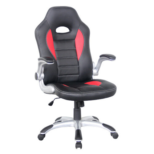 Talladega Alphason Office Chair Talladega Red &Black Faux leather