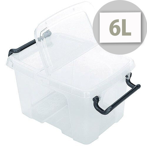 Strata Smart Storage Box With Clip On Lid 6 Litres Clear. Stackable Or Nested When  sc 1 st  Hunt Office & Strata Smart Storage Box With Clip On Lid 6 Litres Clear - HuntOffice.ie