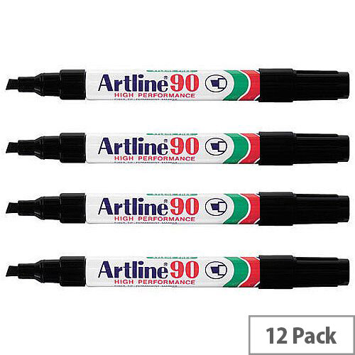 Artline 90 Black Markers Pack of 12
