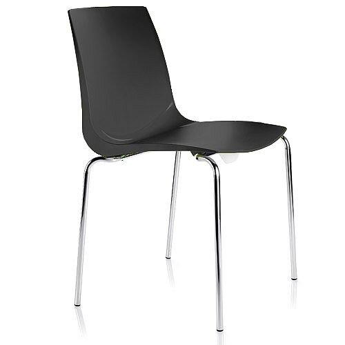 ARI Black Canteen Stacking Chair