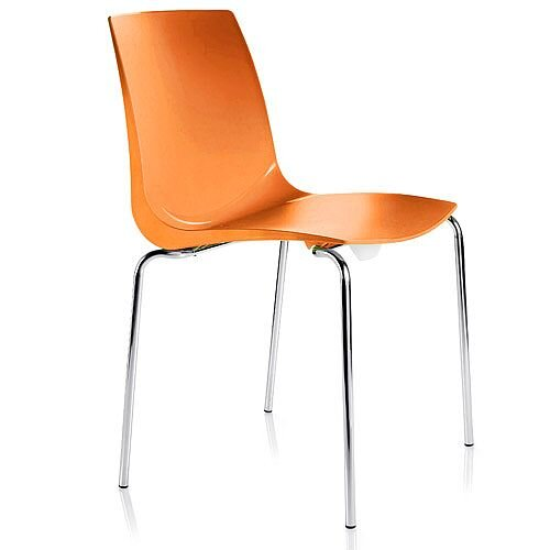 ARI Orange Canteen Stacking Chair