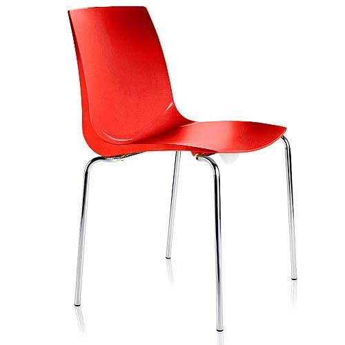 ARI Red Canteen Stacking Chair