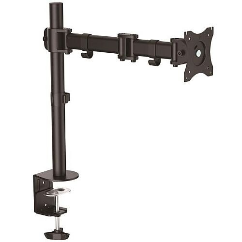 "StarTech.com Articulating Monitor Arm - Steel - Single Monitor Stand - Monitors up to 27"" - VESA Mount - Adjustable Monitor Arm - 68.6 cm (27"") Screen Support - 7.98 kg Load Capacity - Black"
