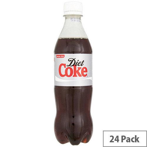 Coca-Cola Diet Coke Soft Drinks 500ml Bottle (Pack 24) 100187