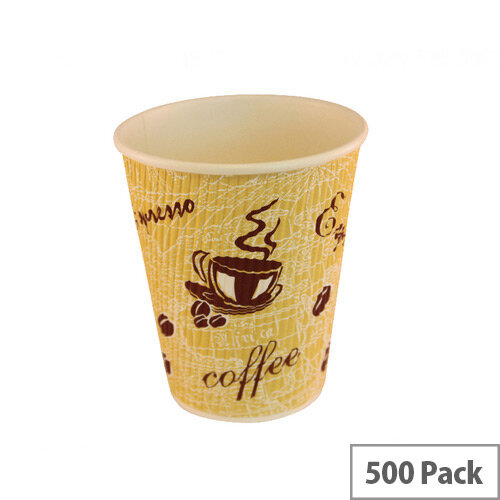 4Aces Ripple Red Bean 8oz/250ml Coffee Paper Cups [Pack of 500]