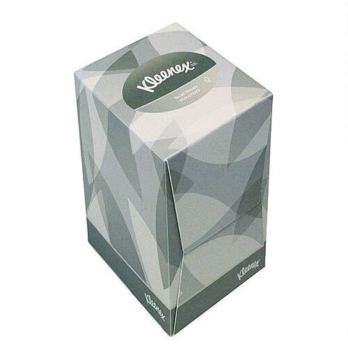 Kleenex Facial Tissues Cube Box 2 Ply 90 Sheets Pack 12 8834