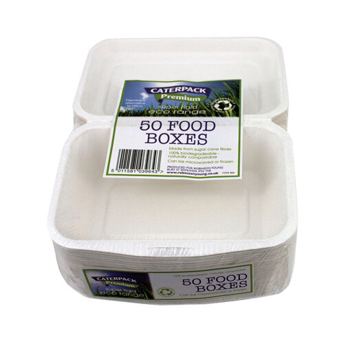 Caterpack Biodegradable Super Rigid Food Boxes Pack of 50 RY03860 / B004