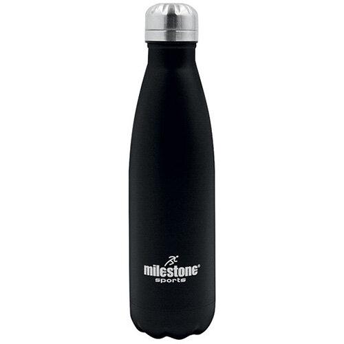 Drinking Bottle Double Walled Stainless Steel 500ml Black 52100