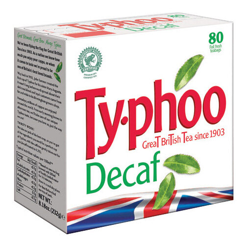 Typhoo Decaf Teabags Pack of 80 A08107