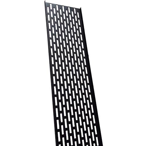 18U Black Cable Tray 75mm Wide
