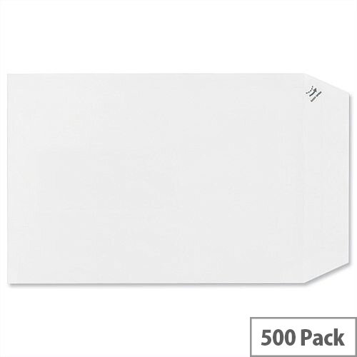Plus Fabric C5 Envelopes 110gsm Pocket Peel and Seal White Pack 500
