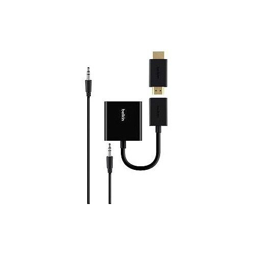 Belkin HDMI/Mini-phone/USB/VGA A/V Cable for Chromebook Chromecast Apple TV Amazon Fire TV Raspberry Pi Projector TV B2B137-BLK