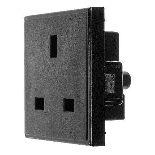 Black 13amp 240v Power Socket