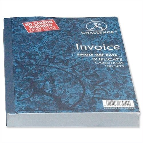 Challenge Duplicate Invoice Book 210x130mm Pack 5