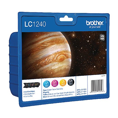 Brother LC1240VALBP 4-Colour Value Pack Inkjet Cartridges