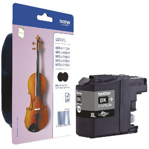Brother Ink Cartridge Black Pack of 2 LC127XLBKBP2