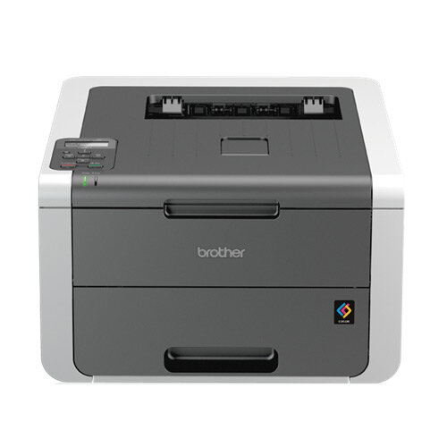 Brother HL-3140CW Colour Wireless Laser Printer - Effortless mobile connectivity enables printing direct from your Apple iOS, Android, Windows Phone or Blackberry device - Save time with high speed 18ppm mono/ colour printing