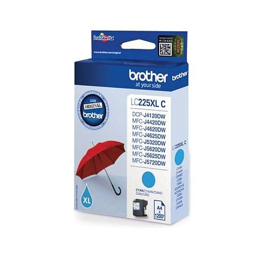 Brother LC225XLC Cyan High Yield Inkjet Cartridge Umbrella